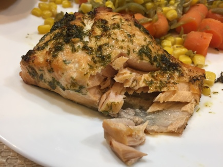salmon in airfryer