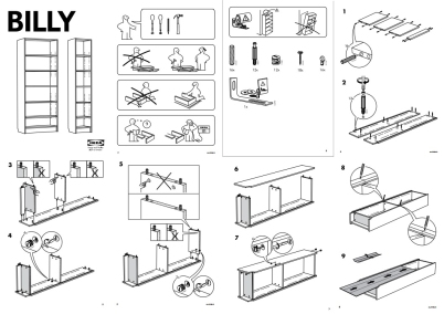Billy bookcase instructions
