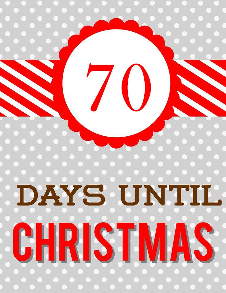 Until Christmas 70 Days Till Christmas.Loyal To The King As I Was Saying