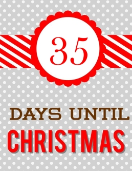 35 days until Christmas